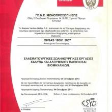 ΓΕΝΕ ΕΠΕ – OHSAS 18001:2007